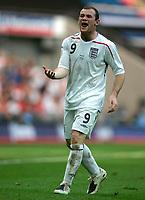 Photo: Tom Dulat.<br /> England v Estonia. UEFA European Championships Qualifying. 13/10/2007.<br /> Wayne Rooney of England.