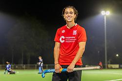ALPHEN AAN DEN RIJN, NETHERLANDS - SEPTEMBER 14: Daan Auney of Hockey Club Alphen at Park Zegersloot on September 14, 2021 in Alphen aan den Rijn, Netherlands
