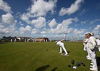 Fluffy clouds over Ryde Bowling club