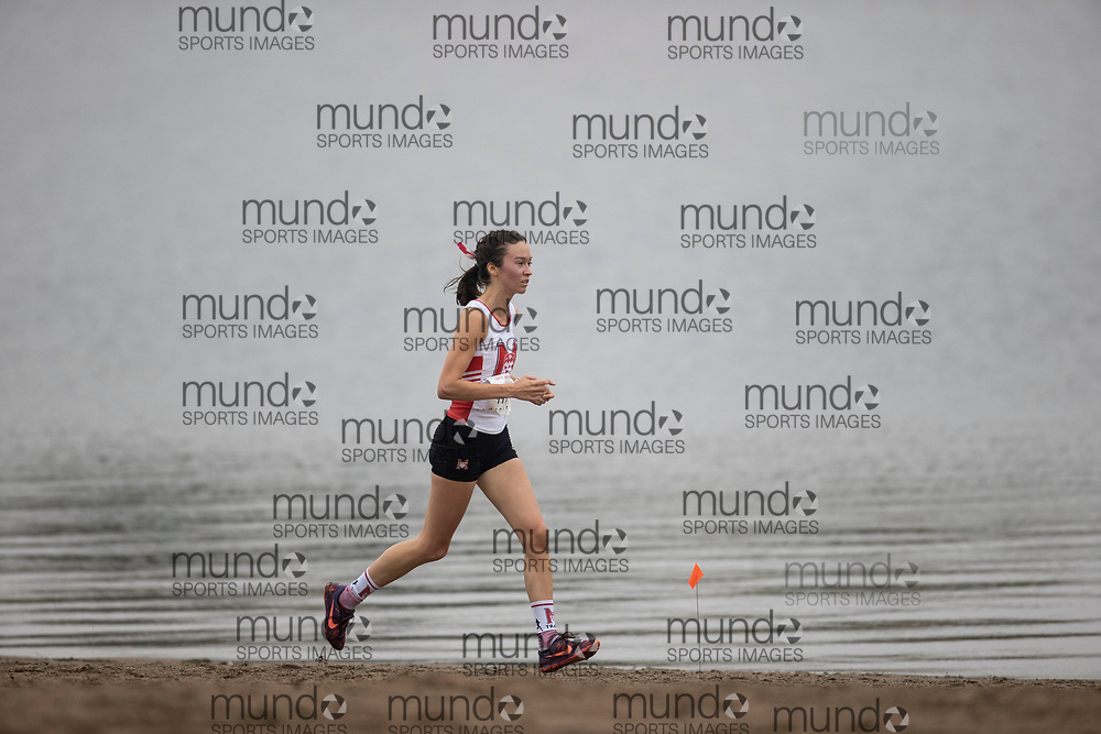 If you post on social media please tag @mundosportimages on Instagram or tag Mundo Sport Images on Facebook.<br /> <br /> (Ottawa, Canada---02 October 2021)  Mariane  Pominville (McGill) competing in the University Women's / Open Women's race at the  2021 Capital Cross Country Challenge held at Mooney's Bay in Ottawa.  Photograph 2021 Copyright Sean Burges / Mundo Sport Images