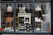 Window display at Industry & Co interior design shop on 04th April 2017 in Dublin, Republic of Ireland. Dublin is the largest city and capital of the Republic of Ireland.