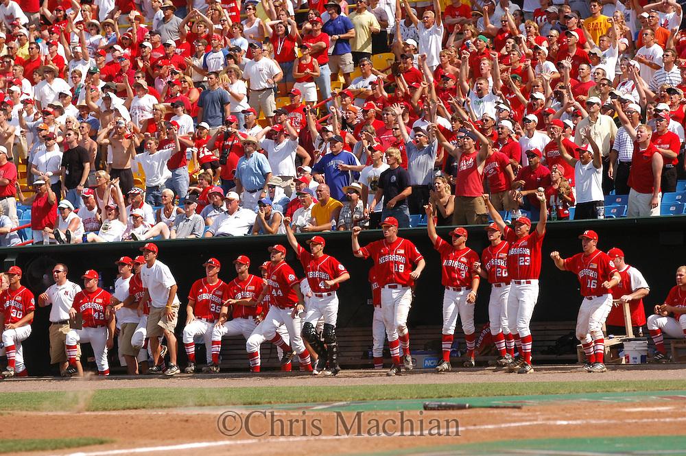 6/21/05 Omaha, NE Nebraska  at the College World Series at Rosenblatt Stadium..(Chris Machian/Prairie Pixel Group)