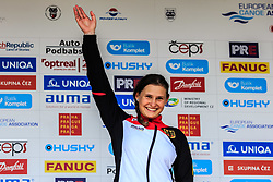 Apel Elena (GER) medal ceremony after Finals during Day 2 of 2018 ECA Canoe Slalom European Championships, on June 2nd, 2018 in Troja , Prague, Czech Republic. Photo by Grega Valancic / Sportida