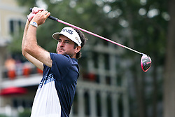 June 24, 2018 - Cromwell, Connecticut, United States - Bubba Watson tees off the 18th hole during the final round of the Travelers Championship at TPC River Highlands. (Credit Image: © Debby Wong via ZUMA Wire)