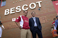 MERSON....PIC TIM EASTHOPE..17..... Pictured is soccer star Paul Merson signing for Walsall from Portsmouth with Mnager Colin Lee