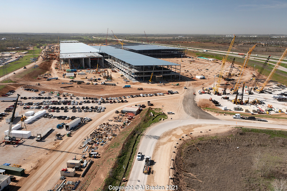 Tesla Gigafactory constrtuction, Austin, TX