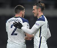 Football - 2020 / 2021 Premier League - Tottenham Hotspur vs Crystal Palace - Tottenham Hotspur Stadium<br /> <br /> Gareth Bale of Tottenham celebrates scoring goal no 1 with Matt Doherty<br /> <br /> Credit : COLORSPORT/ANDREW COWIE