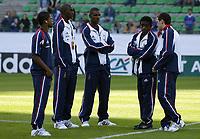 Fotball<br /> Privatlandskamp<br /> Frankrike v Bosnia & Herzegovina<br /> 18. august 2004<br /> Foto: Digitalsport<br /> NORWAY ONLY<br /> PATRICE EVRA / ALOU DIARRA / ERIC ABIDAL / RIO MAVUBA / GAEL GIVET (FRA)