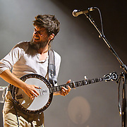 COLUMBIA, MD - June 9th, 2011: English folk band Mumford & Sons perform to a sold-out crowd at Merriweather Post Pavilion. The band's debut album, Sigh No More, was nominated for two Grammys. (Photo by Kyle Gustafson/For The Washington Post)