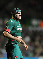 Leicester Tigers openside flanker, Julian Salvi - Photo mandatory by-line: Dougie Allward/JMP - Mobile: 07966 386802 - 16/01/2015 - SPORT - Rugby - Leicester - Welford Road - Leicester Tigers v Scarlets - European Rugby Champions Cup