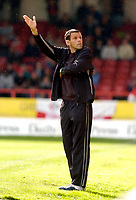 Photo: Leigh Quinnell.<br /> Swindon Town v Boston United. Coca Cola League 2. 30/09/2006. Swindon asst manager Gustavo Poyet points the way forward.