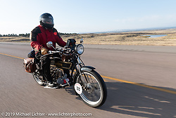 Byrne Bramwell of Ontario, Canada, rode his Henderson-4 on the Motorcycle Cannonball coast to coast vintage run. Stage 10 (299 miles) from Sturgis, SD to Billings, MT. Tuesday September 18, 2018. Photography ©2018 Michael Lichter.
