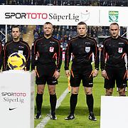 Referee's Tolga Ozkalfa (3ndL) during their Turkish superleague soccer match Fenerbahce between Eskisehirspor at the Sukru Saracaoglu stadium in Istanbul Turkey on Saturday 30 November 2014. Photo by Kurtulus YILMAZ/TURKPIX