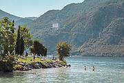 Madello del Lario, Lecco: bathing at the Lido