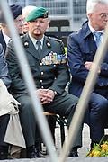 Nationale dodenherdenking op de Dam in Amsterdam .<br /> <br /> Op de foto:<br /> <br />  Kapitein Marco Kroon van het Korps Commandotroepen