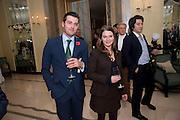 REGINALD STEWART; CHLOE STEWART, Book launch of Lady Annabel Goldsmith's third book, No Invitation Required. Claridges's. London. 11 November 2009