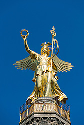 Victory Column or Siegessäule statue in Tiergarten Berlin Germany