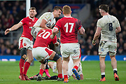 Twickenham, England, 7th March 2020, Henry SLADE, collect the high ball,  during, the Guinness Six Nations, International Rugby, England vs Wales, RFU Stadium, United Kingdom, [Mandatory Credit; Peter SPURRIER/Intersport Images]