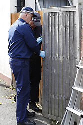 © Licensed to London News Pictures. 21/09/2017. London, UK. Police search teams begin working at a property on Thornton Heath, south London where a 17 year old was arrested last night. <br />  This is the sixth arrest in connection with the bombing of an underground train at Parsons Green on September 15th. The bomb failed to fully explode but still injured 30 people. Photo credit: Peter Macdiarmid/LNP