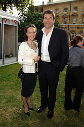 Presenter MARK DURDEN-SMITH and his wife RACHEL at the Lady Taverners Westminster Abbey Garden Party, The College Garden, Westminster Abbey, London SW1 on 10th July 2007.<br />