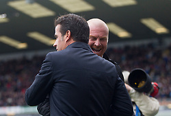 Burnley manager Sean Dyche and Everton manager Marco Silva (L) before the match - Mandatory by-line: Jack Phillips/JMP - 05/10/2019 - FOOTBALL - Turf Moor - Burnley, England - Burnley v Everton - English Premier League
