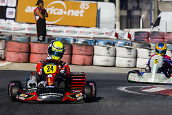 June 23, 2018 - Cotia, Brazil - COTIA, SP - 23.06.2018: OPEN BRASILEIRO DE KART - Open Brazilian Kart Championship being held this weekend at Kartódromo Granja Viana, in Cotia, in Greater São Paulo and already has more than 170 registered drivers. The competition is the final preparation before the 53rd Brazilian Kart, which for the first time will also be hosted at the KGV between July 9 and 21. In the pilot of the Senior category A - IAME João Cunha. (Credit Image: © Emerson Santos/Fotoarena via ZUMA Press)