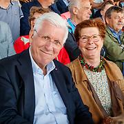 NLD/Amsterdam/20180503 - Beste Vriend Andere Tijden Sport en Olympisch Stadion, Joop Daalmeijer en partner Maartje van Weegen