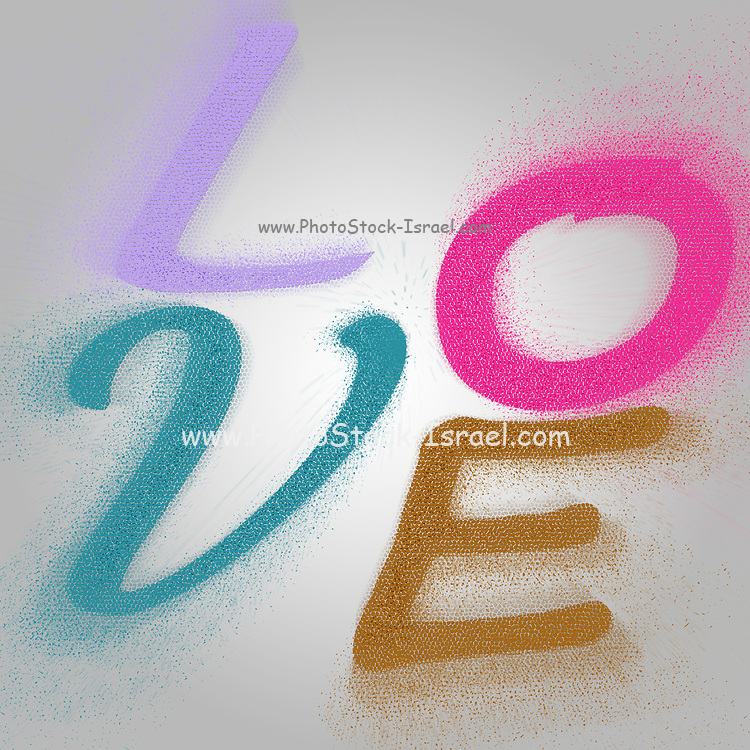 Graphic display of the word LOVE