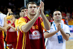 after the basketball game between National basketball teams of Spain and F.Y.R. of Macedonia in Semifinals  of FIBA Europe Eurobasket Lithuania 2011, on September 16, 2011, in Arena Zalgirio, Kaunas, Lithuania. Spain defeated Macedonia 92-80.  (Photo by Vid Ponikvar / Sportida)