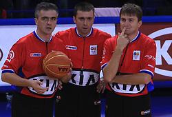 Dragan Neskovic (SRB), Sasa Maricic (SRB), Milan Mazic (SRB) at NLB League ABA basketball match between KK Helios Domzale and KK Zagreb Croatia Osiguranje, on October 31, 2008, in Domzale, Slovenia.  (Photo by Vid Ponikvar / Sportida).