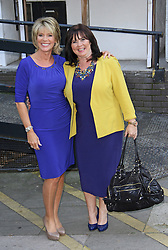 © Licensed to London News Pictures. 08/09/2014, UK. Ruth Langsford & Coleen Nolan, ITV Studios, London UK, 08 September 2014. Photo credit : Brett D. Cove/Piqtured/LNP