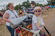 All forms of transport for young and old - The 2017 Glastonbury Festival, Worthy Farm. Glastonbury, 2 June 2017