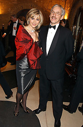 Opera singer LESLEY GARRETT and her husband PETER CHRISTEN at the 2005 Whitbread Book Awards 2005 held at The Brewery, Chiswell Street, London EC1 on 24th January 2006. The winner of the 2005 Book of the Year was Hilary Spurling for her biography 'Matisse the Master'.<br />