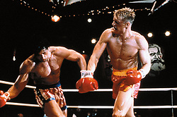 1985; Rocky Iv. Original Film Title: Rocky Iv, PICTURED: SYLVESTER STALLONE, DOLPH LUNDGREN, Composer: Bill Conti, Director: Sylvester Stallone, IN CAST: Talia Shire, Dolph Lundgren, Brigitte Nielsen, Sylvester Stallone  (Credit Image: © Metro-Goldwyn-Meyer (MGM)/Entertainment Pictures/ZUMAPRESS.com)