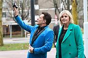 Irene Moors en Gerard Joling In Amsterdam Zuid