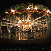 VERONA, ITALY - DECEMBER 04:  An historical Merry-go-round has specially been placed in Verona in Piazza Bra for Christmas, on November 4, 2010 in Verona, Italy. Christmas markets, fairs, lights and nativity scenes fill Northern Italian cities and villages from December through January 6.