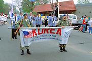 Korean War Veterans at the Cinco de May festival.  St Paul Minnesota USA