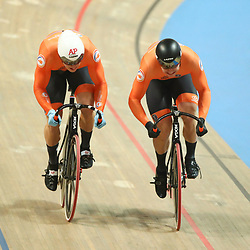 03-03-2019: WK wielrennen: Baan: Pruszkow<br />- 02/03/2019 - Cycling - UCI Track Cycling World Championships presented by Tissot - Velodrome BGZ Arena, Pruszkow, Poland - Men's Sprint Gold Finals Jeffery Hoogland and Harrie Lavreysen of The Netherlands