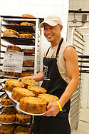 The Harbord Bakery in the Annex neighborhood of Toronto is a Jewish bakery featuring such staples as Challah Bread and bagels.  It is located on Harbord St. near Spadina