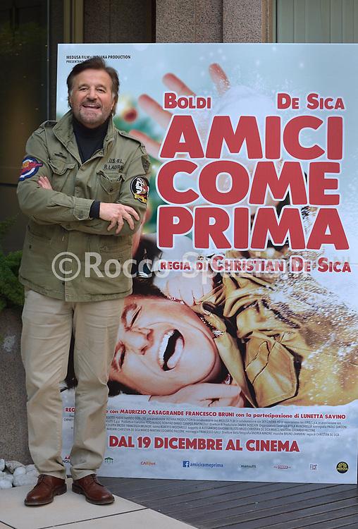 PHOTOCALL<br /> del film AMICI COME PRIMA  con CHRISTIAN DE SICA  e MASSIMO BOLDI 10 dicembre 2018