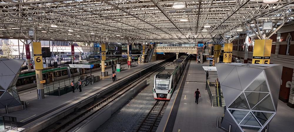The Perth railway station, Western Australia Thursday August 20, 2020.