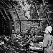 Y-590423-04.  Arch Cape tunnel collapse. A speeding car crashed into the tunnel wall, triggering a collapse.. April 23, 1959.