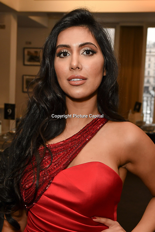 Nisha Aaliya is an actress attends the UK Asian Film Festival closing flame awards gala - Red Carpet at BAFTA 195 Piccadilly, on 7 April 2019, London, UK