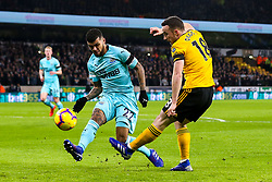 Diogo Jota of Wolverhampton Wanderers takes on DeAndre Yedlin of Newcastle United - Mandatory by-line: Robbie Stephenson/JMP - 11/02/2019 - FOOTBALL - Molineux - Wolverhampton, England - Wolverhampton Wanderers v Newcastle United - Premier League