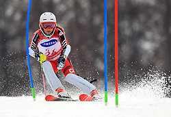 Canada's Mollie Jepsen competes in the Women's Slalom, Standing at the Jeongseon Alpine Centre during day nine of the PyeongChang 2018 Winter Paralympics in South Korea