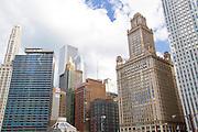 Downtown Chicago Illinois, USA skyline