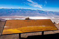 United States, California, Death Valley. From Dante's View 5,500 feet (1,700 m) above sea level. Great view of central part of Death Valley. Telescope Peak is the highest point within Death Valley National Park.