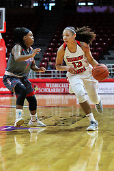 NORMAL, IL - December 16: UU Longs guards Katrina Beck during a college women's basketball game between the ISU Redbirds and the Maryville Saints on December 16 2018 at Redbird Arena in Normal, IL. (Photo by Alan Look)