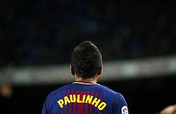 December 17, 2017 - Barcelona, Catalonia, Spain - Paulinho Bezerra during the La Liga match between FC Barcelona v Real Club Deportivo de La Coruna, in Barcelona, on December 17, 2017. (Credit Image: © Joan Valls/NurPhoto via ZUMA Press)