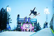 Noah Bowman during Ski Superpipe Practice at 2014 X Games Aspen at Buttermilk Mountain in Aspen, CO. ©Brett Wilhelm/ESPN